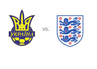 Ukraine vs. England - Team Crests - Football Matchup - WCQ