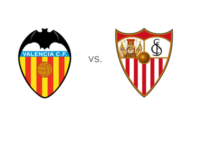 Valencia FC vs. Sevilla FC - Matchup - Team Logos / Badges / Crests - Faceff - Game Preview