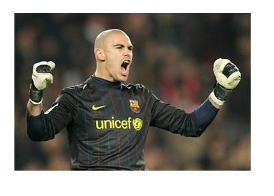 Victor Valdes - Vintage Barcelona FC photo while UNICEF was still on the front of team shirts - It all went downhill for Barcelona after dropping the logo
