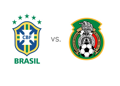 Brazil vs. Mexico - World Cup Matchup - Football Crests