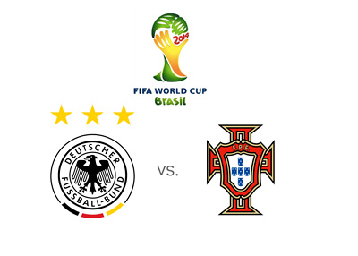 FIFA World Cup 2014 Matchup - Germany vs. Portugal - Team football jersey logos / crests