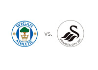Wigan vs. Swansea - Matchup and Team Logos
