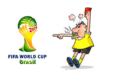 The 2014 Brasil World Cup Referees - Illustration