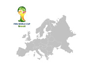 World Cup Brasil Logo - Europe Map