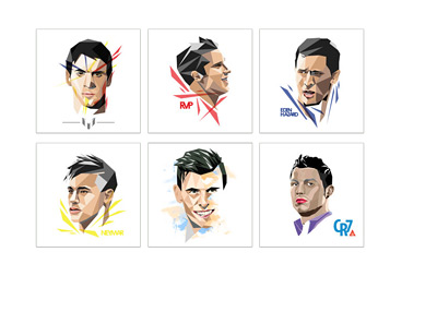 WPAP Famous Footballers - Art by David Eltino