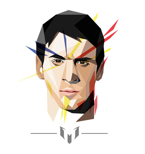 Lionel Messi Drawing / Illustration in WPAP art style
