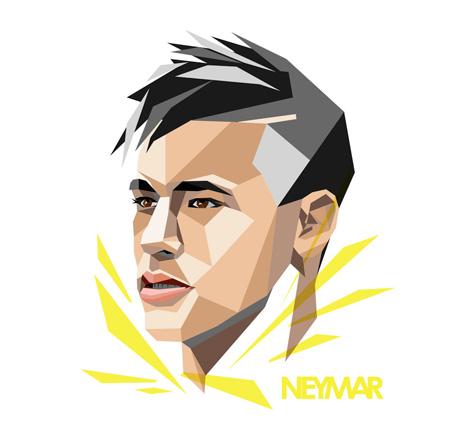 Junior Neymar Drawing / Illustration in WPAP art style