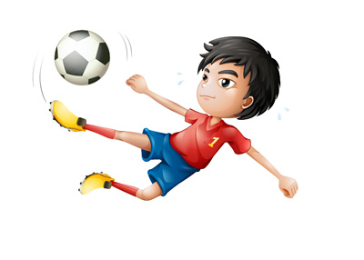 Young Footballer - Top Talent - Illustration