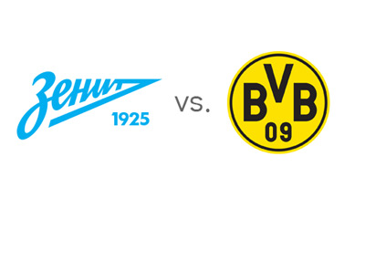 UEFA Champions League - Zenit St. Petersburg vs. Borussia Dortmund - Team Logos