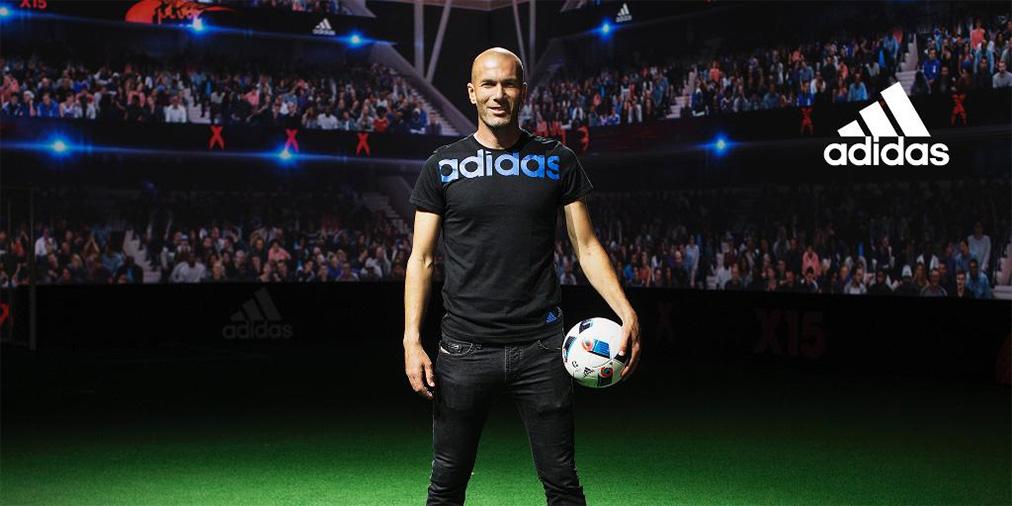 Zinedine Zidane unveiling the EURO 2016 France ball named Beau Jeu
