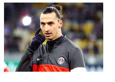 Zlatan Ibrahimovic in his Paris Saint-Germain Warm-up Jersey