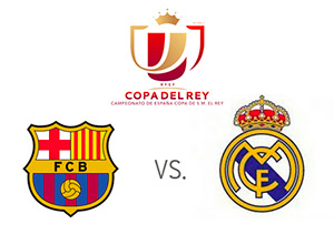 Barcelona vs. Real Madrid - Copa del Rey - Semi-final - Team logos