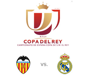 Valencia vs. Real Madrid - Copa del Rey - Team Logos - Matchup