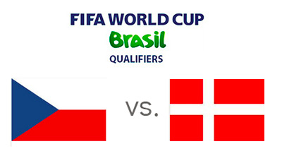 FIFA World Cup Qualifiers - Czech Republic vs. Denmark - Matchup and Flags
