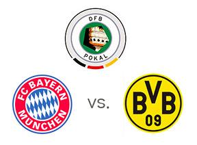 DFB Pokal - Bayern vs. Borussia Dortmund - Team logos