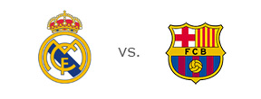 El Clasico - Matchup between Real Madrid and Barcelona - Team Logos
