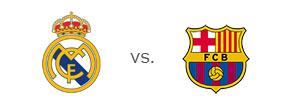 El Clasico - Matchup between Real Madrid and Barcelona - Team Logos