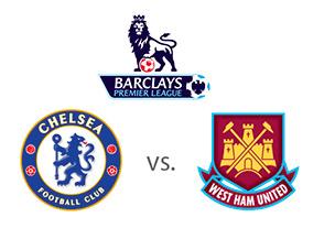 Chelsea vs. West Ham - Barclays Premier League Matchup - Team logos