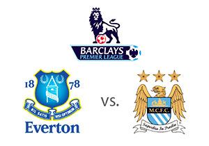 English Premier League - Everton vs. Manchester City - Matchup and Logos