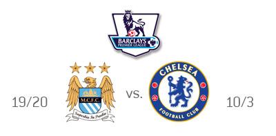English Premier League - Manchester City vs. Chelsea Odds - Team Logos - Matchup