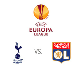 Tottenham Hotspur vs. Lyon - UEFA Europa League - Team and Tournament logos - Matchup