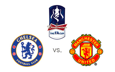 FA Cup - Chelsea vs. Manchester United - Matchup and Team Logos