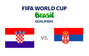 FIFA World Cup Qualifiers - Croatia vs. Serbia - Matchup - Country Flags