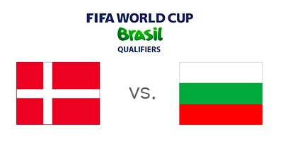 FIFA World Cup Qualifiers - Denmark vs. Bulgaria - Matchup and Flags