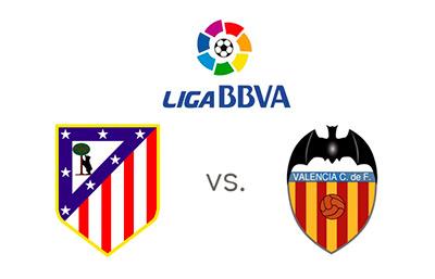 Liga BBVA - Atletico Madrid vs. Valencia - Matchup and team logos