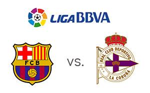 Barcelona vs. Deportivo - La Liga - Matchup - Team Logos