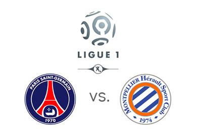 Ligue 1 Matchup - PSG vs. Montpellier - Team Logos