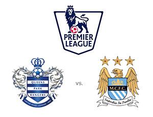 Queens Park Rangers QPR vs. Manchester City - Premier League matchup - Team Logos