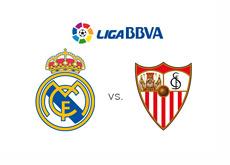 Real Madrid vs. Sevilla FC - Liga BBVA - Spanish League - Team logos - Matchup