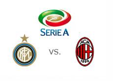 Serie-A Matchup - Inter vs. AC Milan - Team logos - Serie A logo