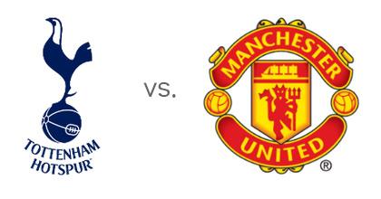 Tottenham Hotspur vs. Manchester United - Team Logos - Matchup