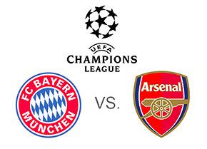 Bayern Munich vs. Arsenal - UEFA Champions League - Matchup and logos