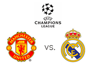 UEFA Champions League - Manchester United vs. Real Madrid - Matchup Preview - Team Logos