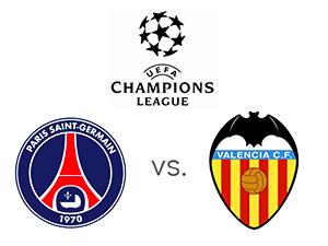 UEFA Champions League - Paris Saint-Germain (PSG) vs. Valencia - Matchup - Team Logos