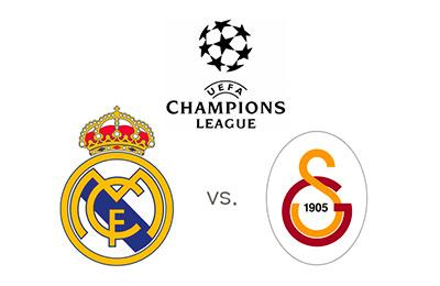 Real Madrid vs. Galatasaray - UEFA Champions League - Matchup and logos