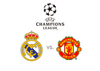 UEFA Champions League - Real Madrid vs. Manchester United - Team logos