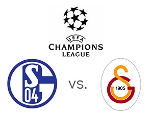 Schalke vs. Galatasaray - UEFA Champions League - Logos