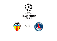 Valencia vs. PSG - UEFA Champions League - Team and tournament logos