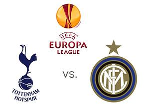 UEFA Europa League Matchup - Tottenham Hotspur vs. Inter Milan - Team and Tournament Logos