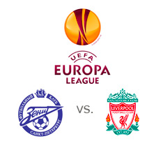 UEFA Europa League - Zenit St Petersburg vs. Liverpool FC - Matchup - Team and tournament logos