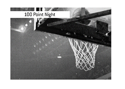 The historic 100 point night by Wilt Chamberlain took place in 1962.