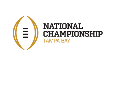 The 2017 National Championship - American College Football - Logo - Tampa Bay.