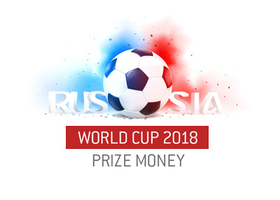 The World Cup 2018 - Russia - Prize money distribution for competing nations.