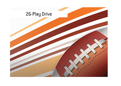 The record official Drive in North American Football is...