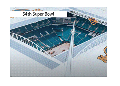 The 54th Super Bowl will take place in February of 2020 in Miami.