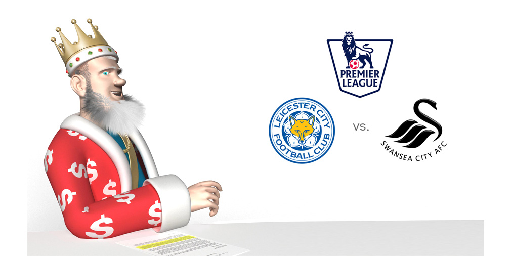 The King presents the very important matchup between league leaders Leicester City and 14th place Swansea City, coming up later today in the English Premier League